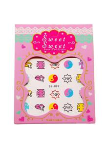 Letter Pattern Cute Nail Sticker