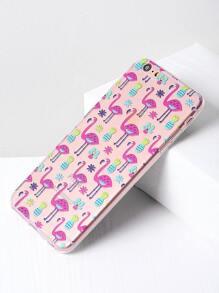 Flamingo And Pineapple Print iPhone 6 Plus/6s Plus Case