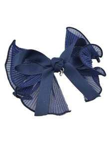 Navyblue Color Ribbon Big Bowtie Shape Hair Clips Barrettes