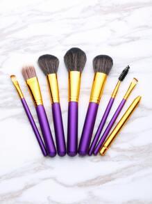 Contrast Handle Makeup Brush Set