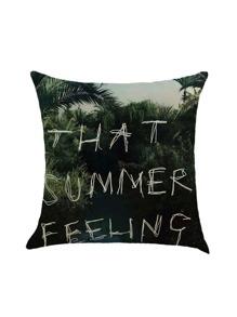 Slogan Print Pillow Case Cover
