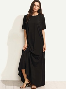 Zip Back Tent Dress With Pocket Detail