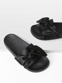 Bow Tie Design Satin Slides