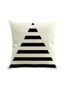 Contrast Triangle Print Cushion Cover