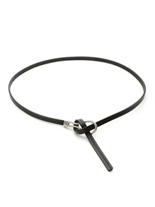 Knot Detail Skinny Waist Belt