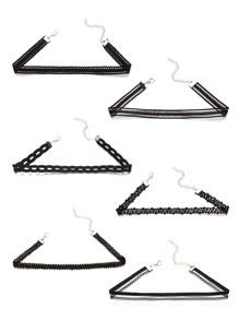 Multi Shaped Choker Set
