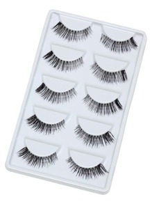 Thick False Eyelashes 5 Pair