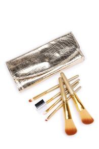 Makeup Brush Set With Crocodile Pattern Bag