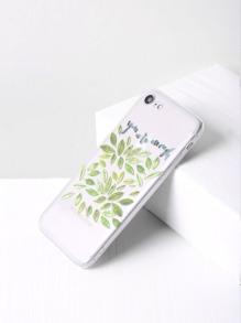 Contrast Leaf Print iPhone 7 Case