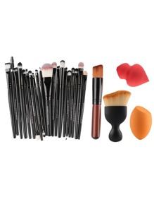 Professional Makeup Brush Set With Puff