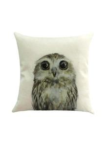 Cute Owl Print Pillowcase Cover