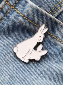 Cut Bunny Shaped Brooch