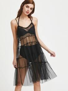 Sheer Mesh Slip Dress