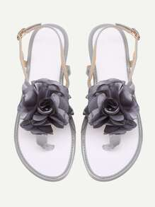 Flower Toe Post Sandals
