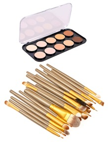20pcs Makeup Brush With 10 Color Concealer Palette