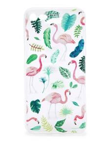 Flamingo And Plants Print iPhone 7 Case
