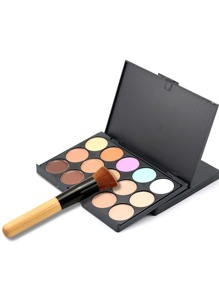 15 Color Concealer Palette With Makup Brush