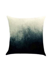 Two Tone Watercolor Print Pillowcase Cover