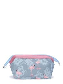 Cranes Print Make Up Bag