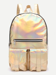 Front Zipper And Pocket Backpack