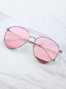 Metal Top Bar Aviator Sunglasses