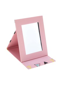 Random Color Triangle Foldover Mirror