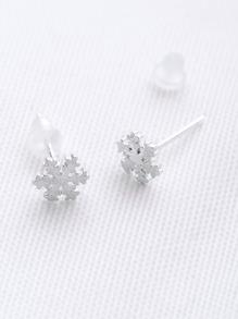 Snowflake Shaped Stud Earrings