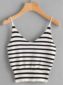 Striped Knitted Cami Top