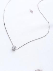Rhinestone Pendant Delicate Necklace