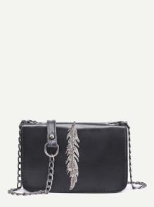 Metal Leaf Crossbody Bag