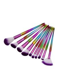 Scale Shaped Handle Cosmetic Brush 10pcs