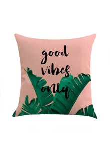 Jungle & Letter Print Pillowcase Cover