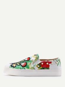Jungle Print Studded Shoes