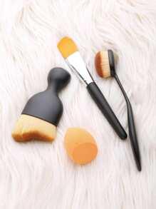 3Pcs Makeup Brush Set With Puff