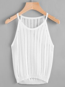 Hollow Out Knit Cami Top
