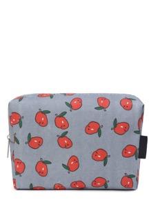 Fruits Print Zipper Up Cosmetic Bag
