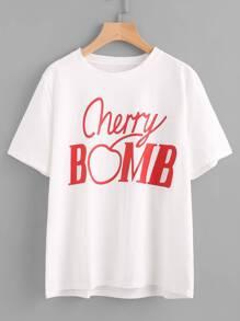 Cherry Bomb Print Tee