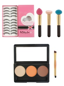 Makeup Tool Set With False Eyelashes