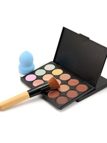 Concealer Palette With Makeup Brush And Random color Puff