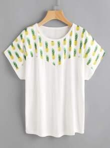 Pineapple Print Tee