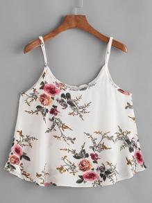 Floral Print Swing Cami Top