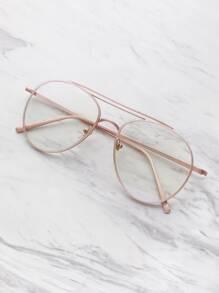 Clear Lens Aviator Glasses