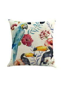 Bird Print Cushion Cover
