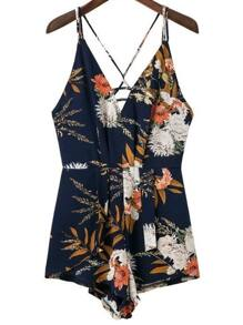 Floral Criss Cross Back Playsuit