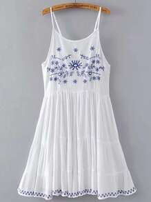 Cami Straps Criss Cross Back A Line Dress
