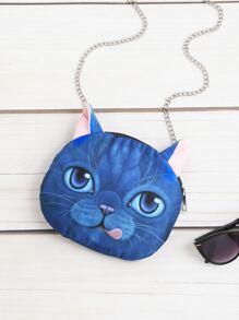 Cat Shaped Cute Crossbody Chain Bag