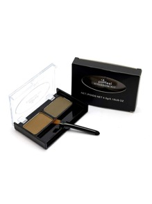 2 Color Eyebrow Powder With Brush