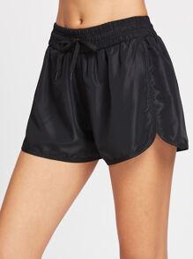 Drawstring Waist Sports Shorts