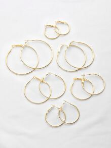 Plated Hoop Earrings Set