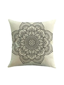 Lotus Flower Print Pillowcase Cover
